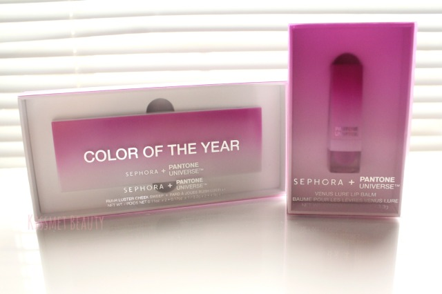 Sephora + Pantone Radiant Orchid Rush Luster Cheek Sweep & Venus Lure Lip Balm