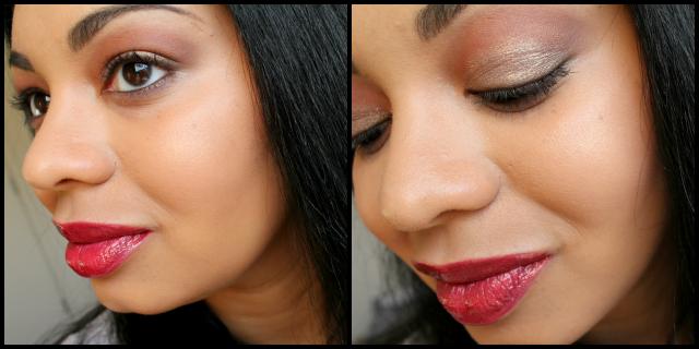 Inglot Sleeks Lipgloss 46, Inglot Lipstick 236 Cream, Inglot Pure Pigment Eyeshadow 35